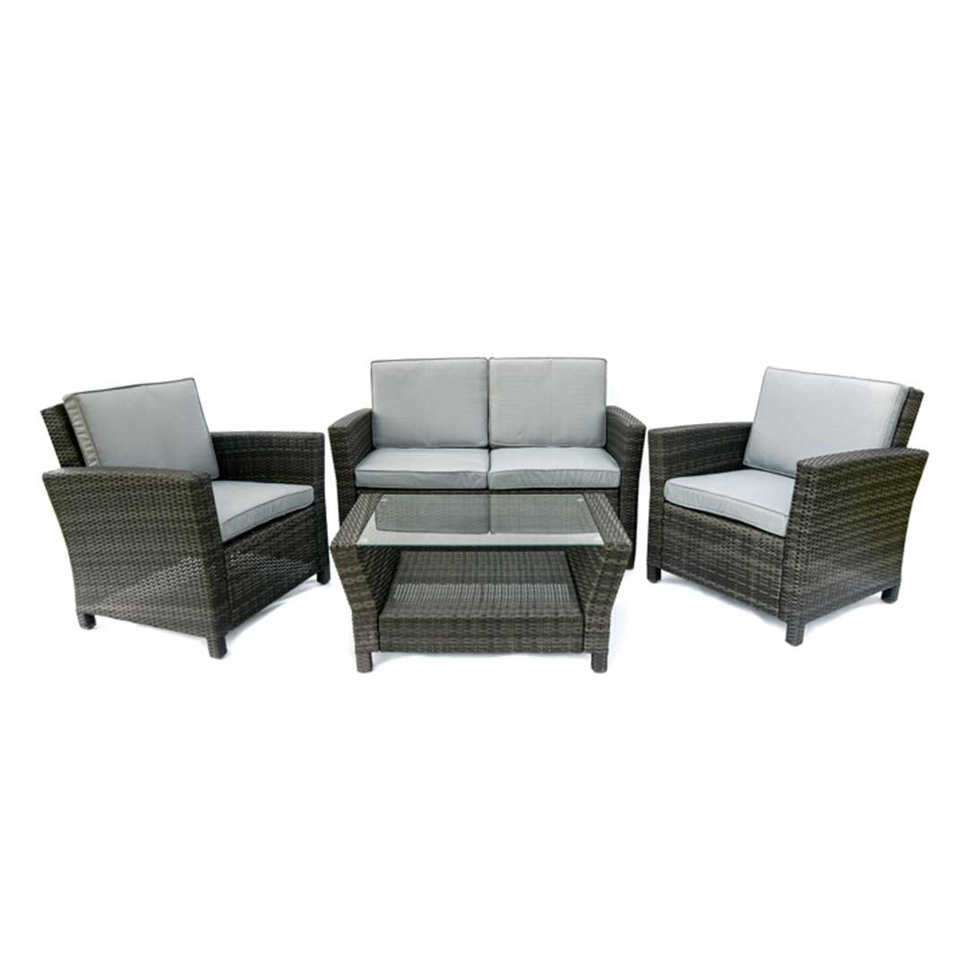 4 seat outdoor rattan sofa sets. Black Bedroom Furniture Sets. Home Design Ideas