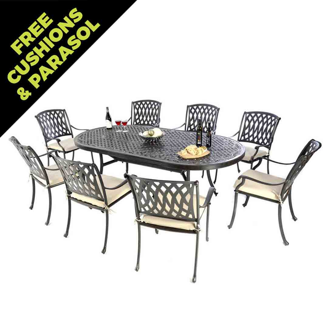 8 Seat Patio Dining Set Images The Foundary Wholesale