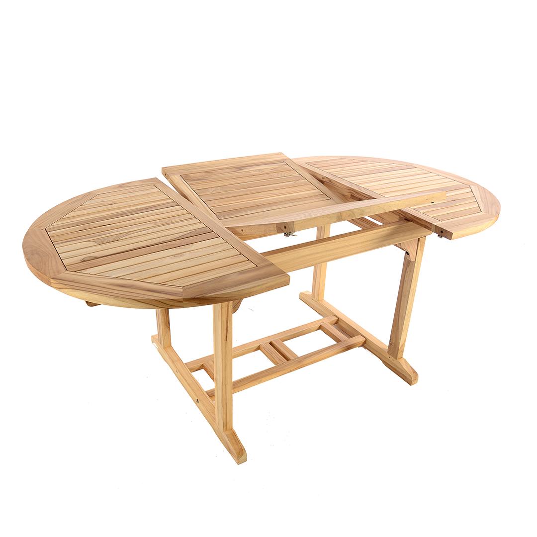 Teak Extending Oval Table Mm Regatta Garden Furniture Essex - Teak oval extending table